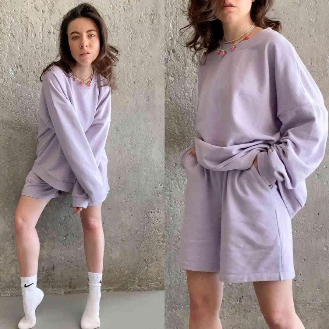Womens Oversize Tracksuits, Sweatshirt, Sporting Shorts