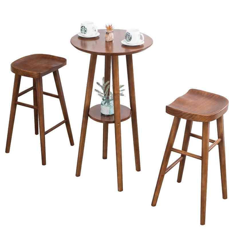 Fashion Solid Creative Leisure Wood Table, Chair - Home, Bar