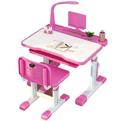 Children's Learning Table And Chair Set With Led Light