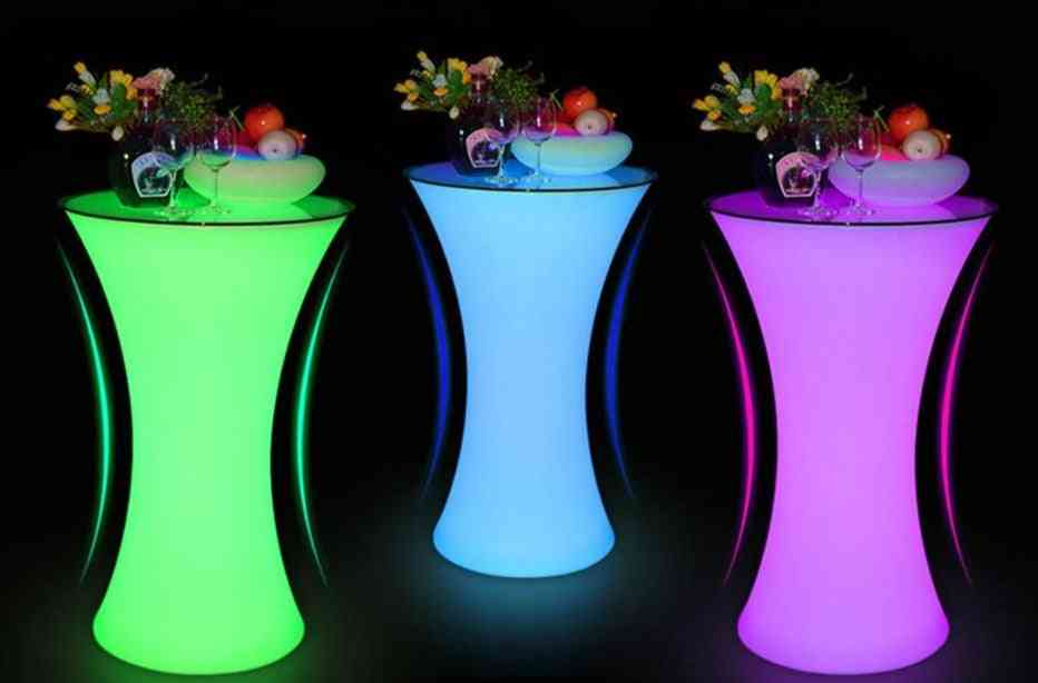Rechargeable Led  Illuminated Cocktail Table