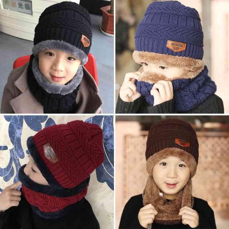 Autumn Winter Woolen's Hat & Scarf Set