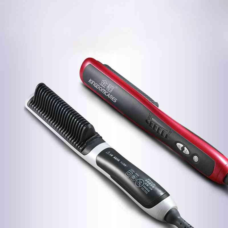 Hair Straightening, Electric Anti Static Ceramic, Irons Brush Combs