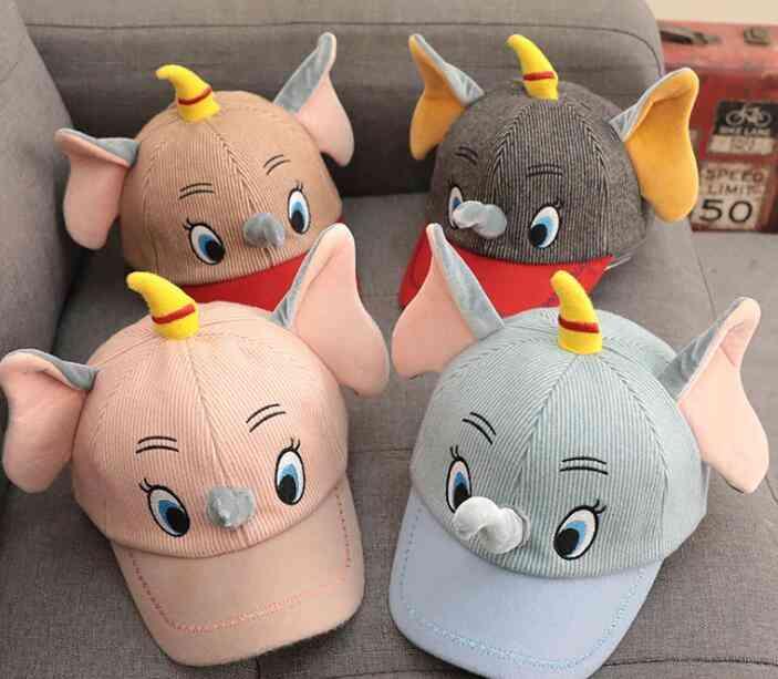 Cartoon 3d Elephant Cute Kids Lovely Sun Hat, Casual Cosplay Baseball Cap