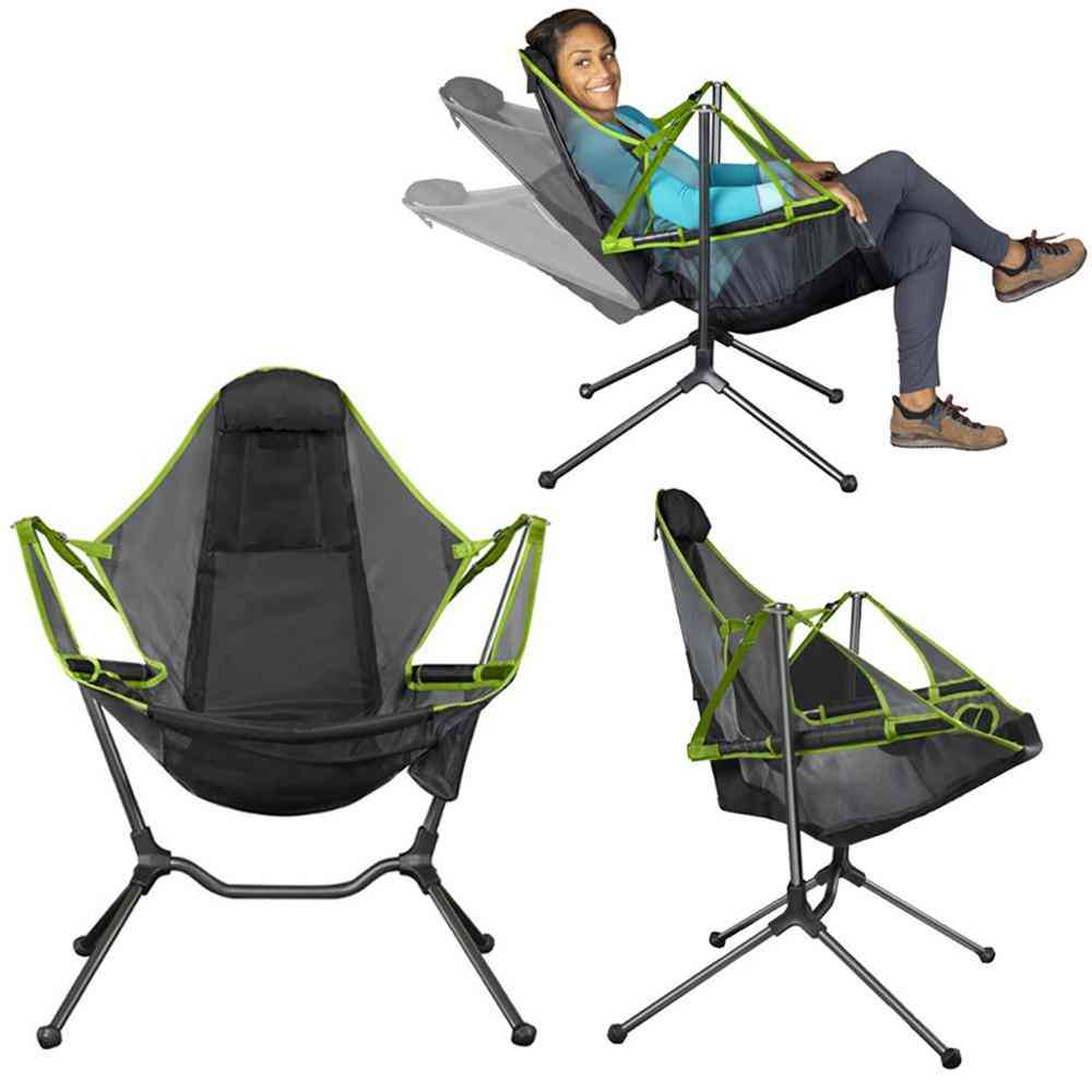 Ultralight Portable Chair With Pillow For Camping, Fishing