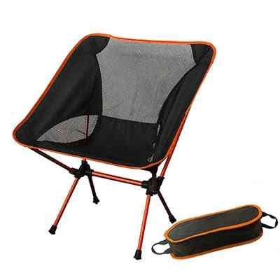 Portable Moon Chair Bbq Stool, Folding Extended Hiking Seat - Ultralight Outdoor Chair