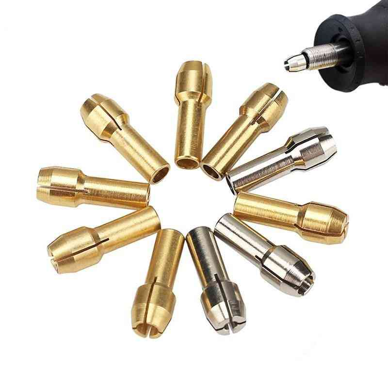 Power Tools Mini Drill Brass Collet Chuck For Dremel Rotary Tool