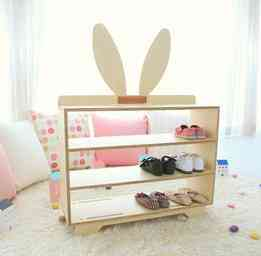 Multi-functional Wooden Shoes/toys/books Storage Rack