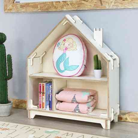 Solid Wood, 2 Layered  Storage Cabinet For Kid's Books And