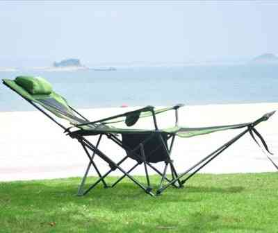 Outdoor Camping, Folding Beach Bed Leisure Lounge Chair