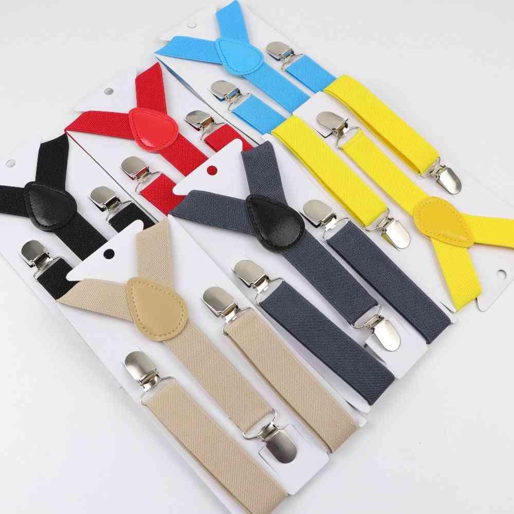 Baby,, Elastic Adjustable Suspenders Clip-on Y-back Braces
