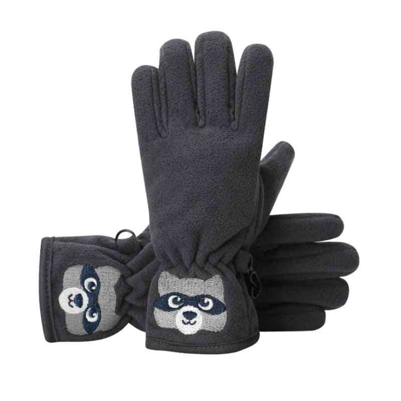 Boys Winter Breathable Warm Mitten Outdoor Sports Non-slip Gloves