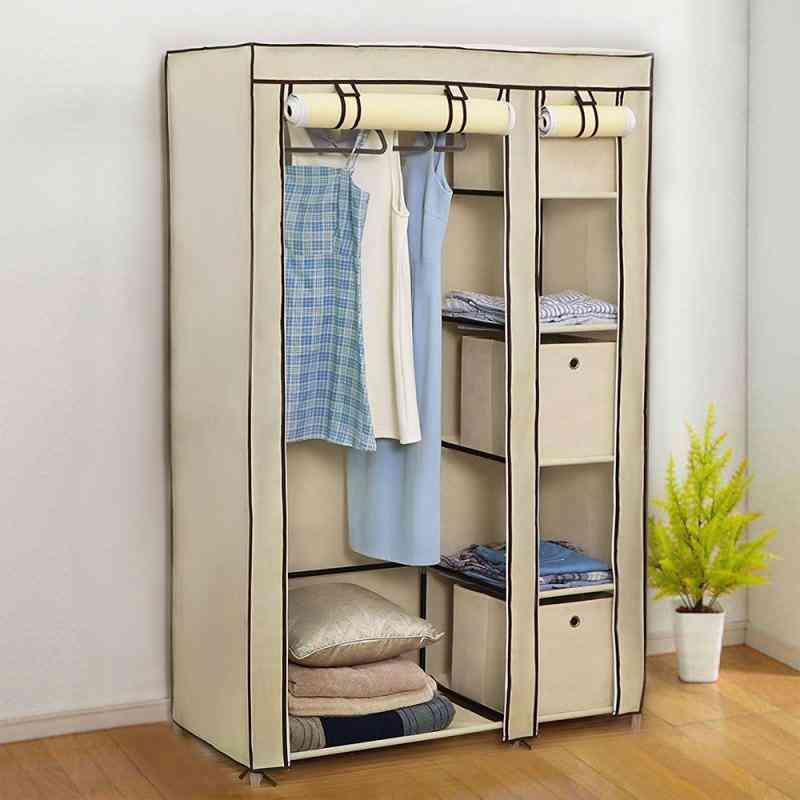 Folding Light Clothing Cabinet, Dustproof Closet Storage