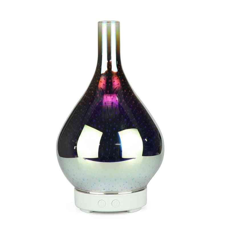 3d Firework, Glass Vase Shape, Air Humidifier With 7-color Led, Night Light