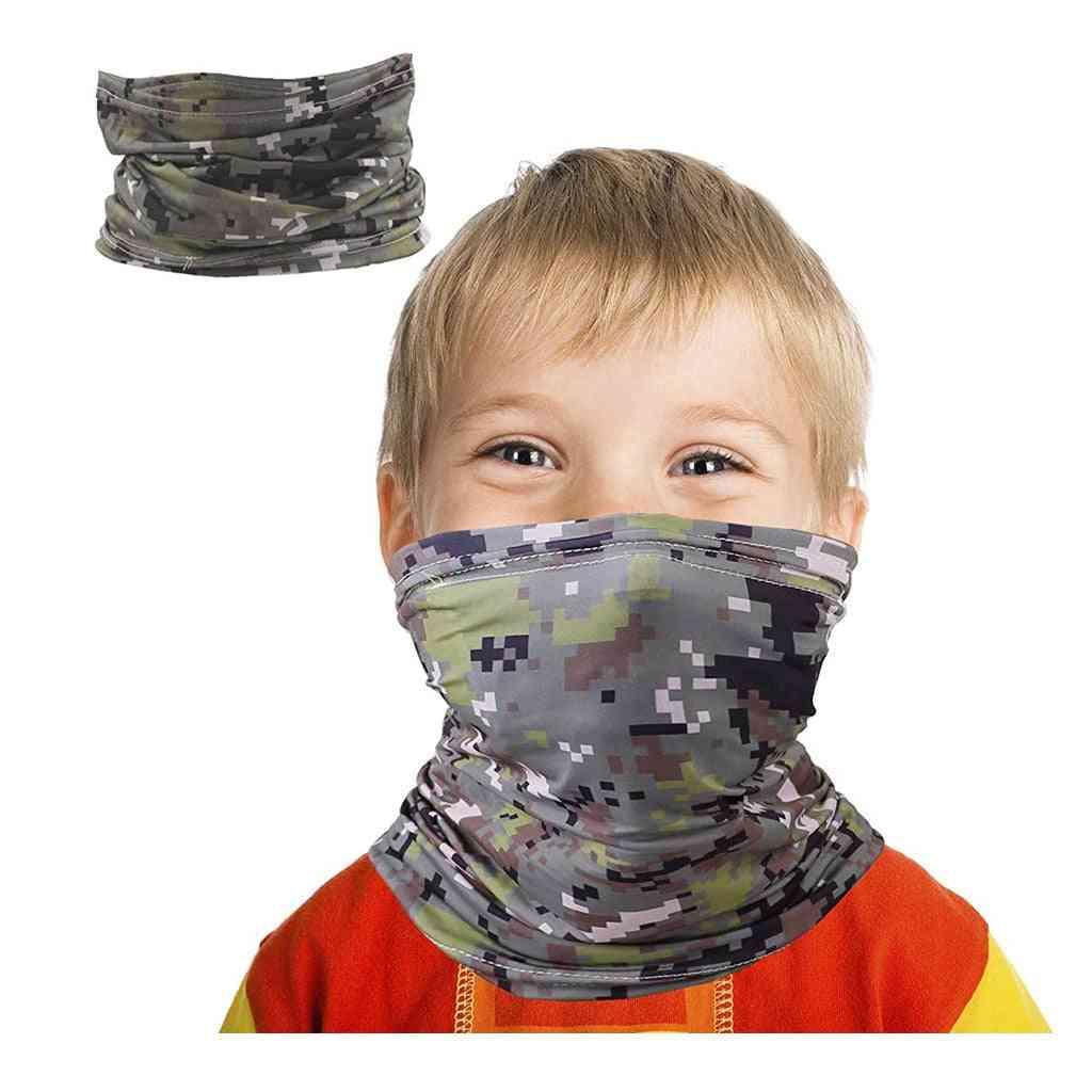 Kids Windproof Bandana Scarf, Dust  Protection Face Mask