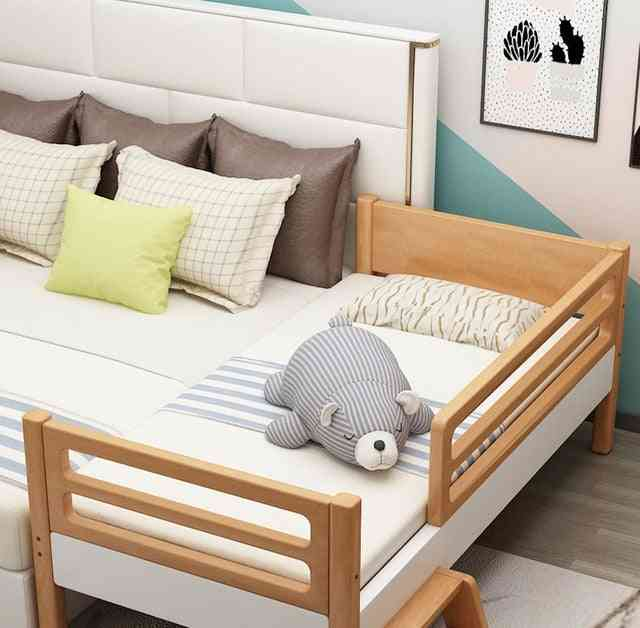 Children's Bed With Guardrail Widening Small Bedside Bed Baby Stitching Large Bed