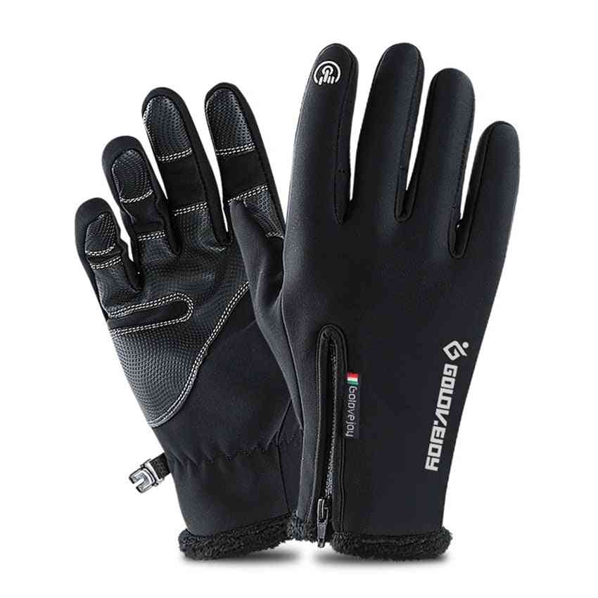 Waterproof Windproof Anti-slip Winter Cycling Fluff Warm Gloves