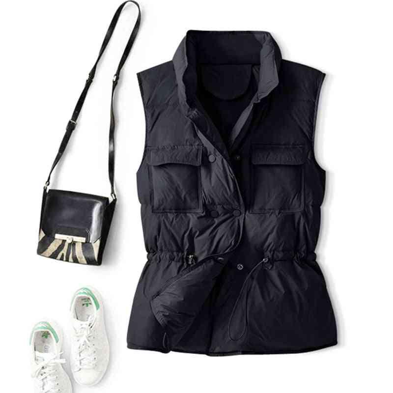 Women Short Vest, Windproof Lightweight Warm Waistcoat