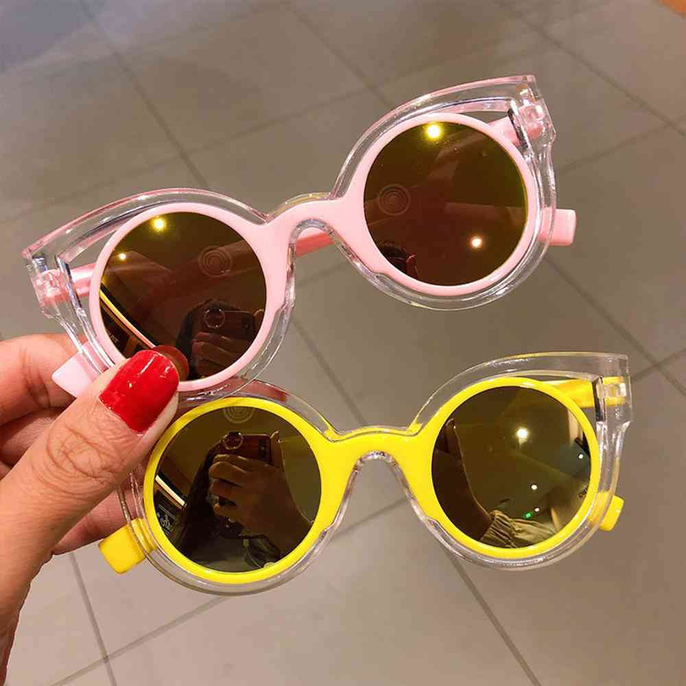 Baby's Cartoon Sunglasses, Protection Uv Heart Glasses