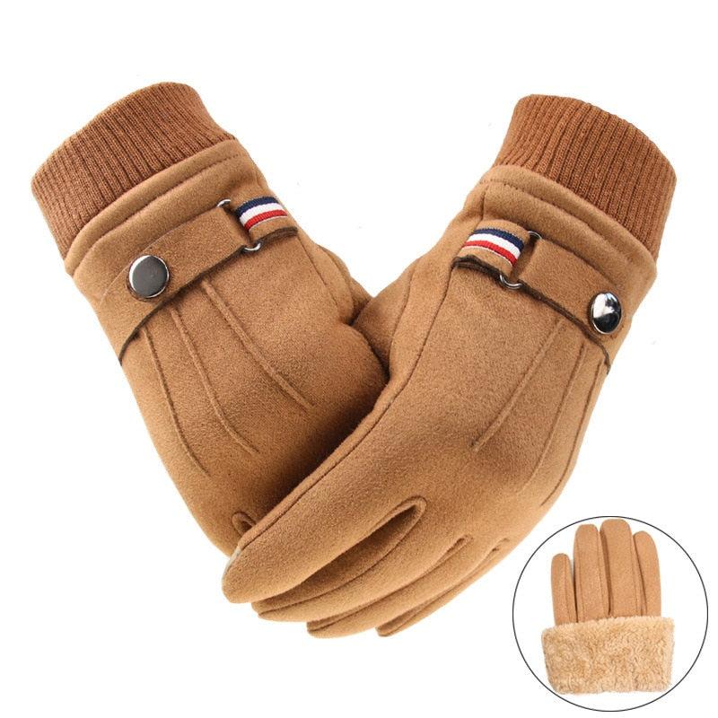 Men's Winter Warm, Split Finger Buckle Design Gloves