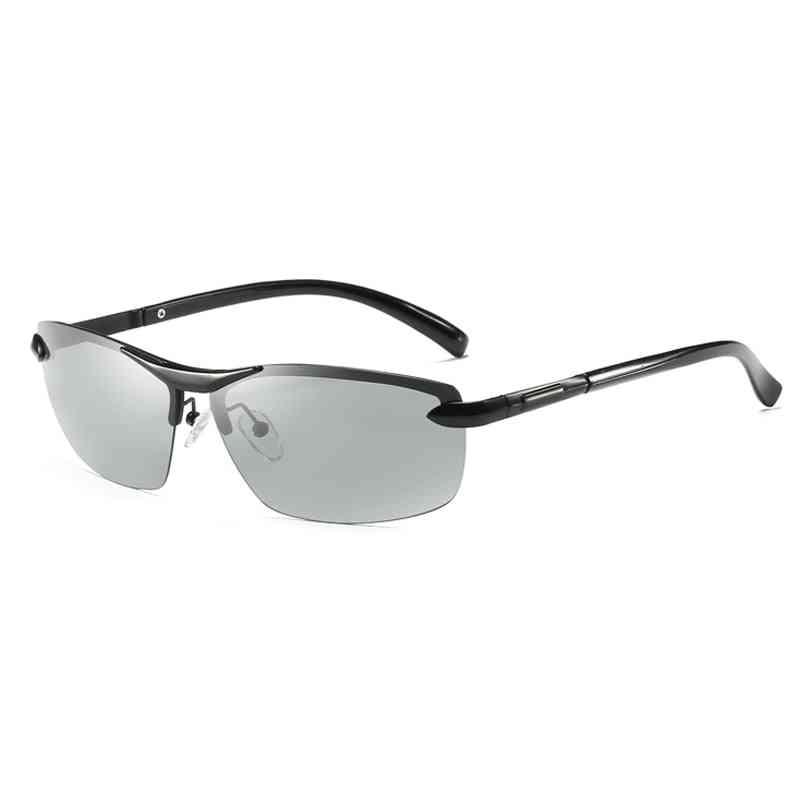 Photochromic Polarized Sunglasses, Men Discoloration Eyewear, Anti Glare Glasses