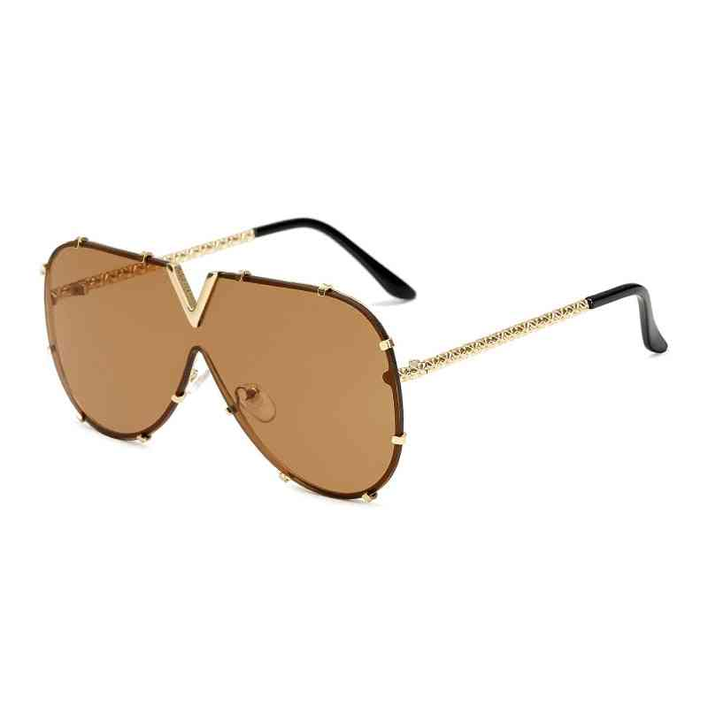 Men's Sunglasses, Oversized Goggle, Female Style