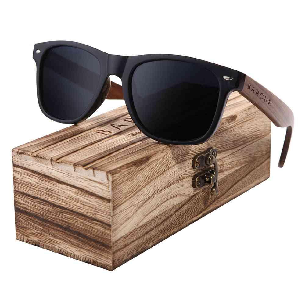 Walnut Wood, Polarized Sunglasses, Uv400 Protection, Eyewear