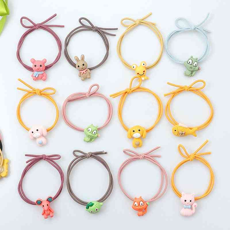 Cute Animal Hair Ring Cat Dog Rabbit Hair Bands For