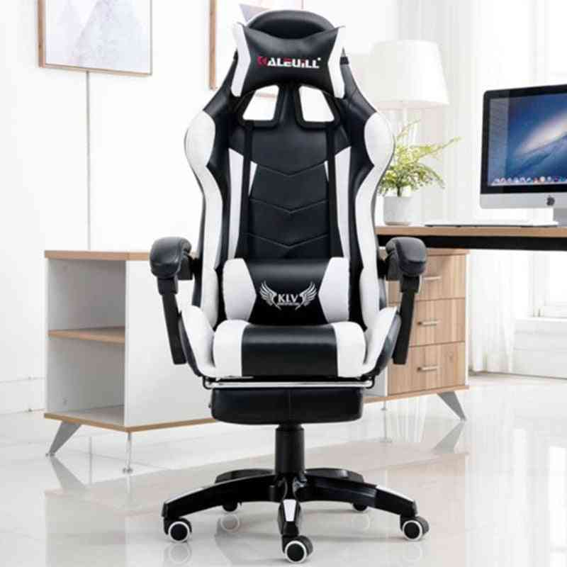 Competitive Game Computer Chair, Headrest Office Internet Lazy Lounge Chairs