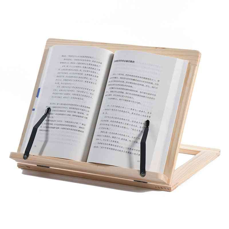 Folding Wooden Pine Frame Reading Bookshelf, Tablet / Pc Support Stand