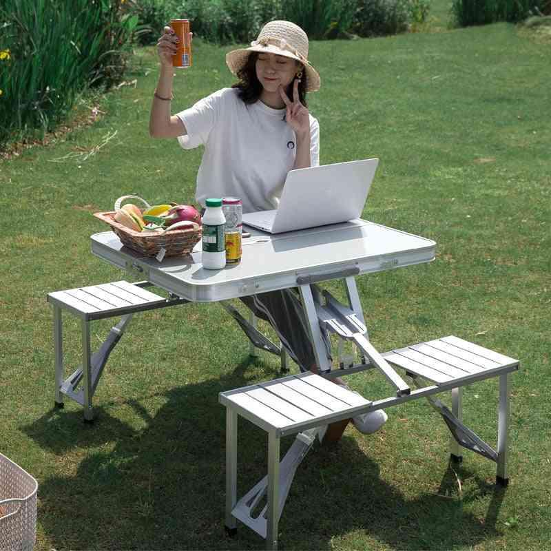 Portable Aluminum Alloy Folding Multifunctional Table Set