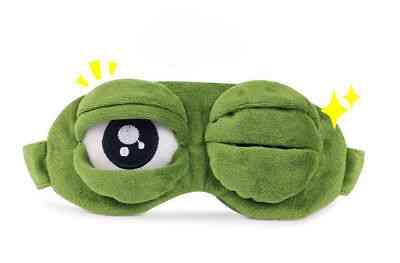Travel Sleep Eye Mask, 3d Sad Frog Padded Shade Cover Sleeping Masks
