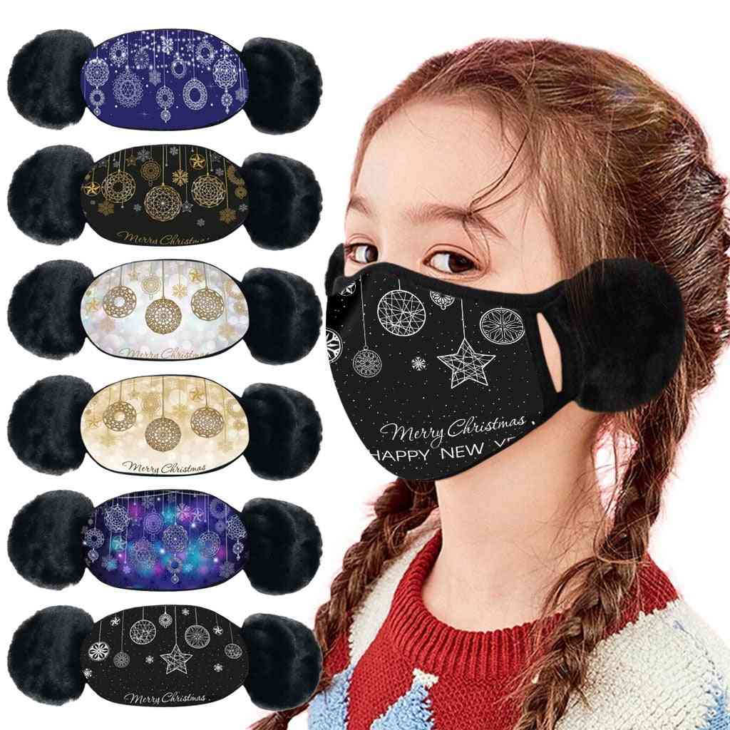 Winter Warm Plush Headphones With Ears Face Ear Cover