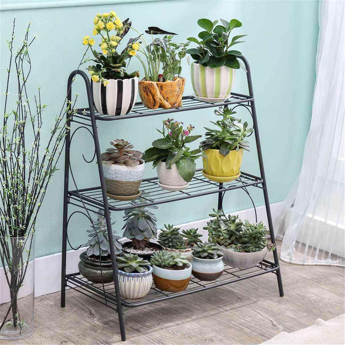 Iron 3-layers Plant Stand Succulent Shelf Rack