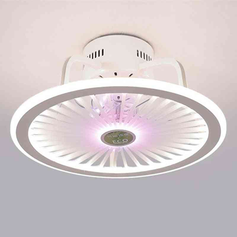 Modern Bedroom Led Smart Ceiling Fan Light With Remote Control