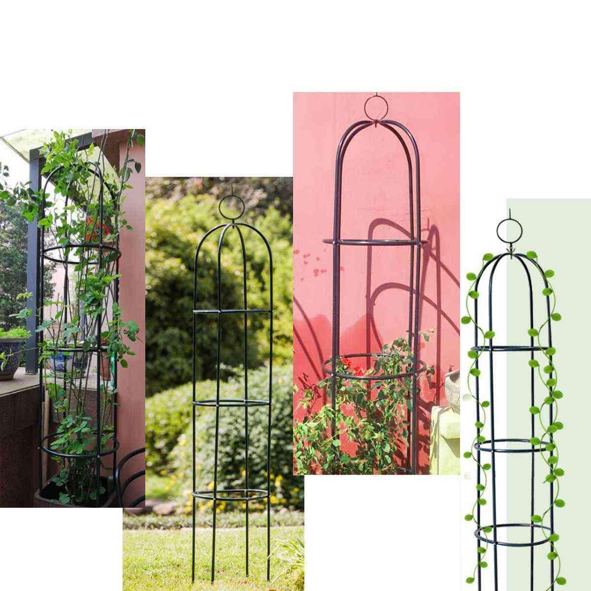 Iron Tube Decoration Arches Garden Climbing Plant Flower Vine Rack
