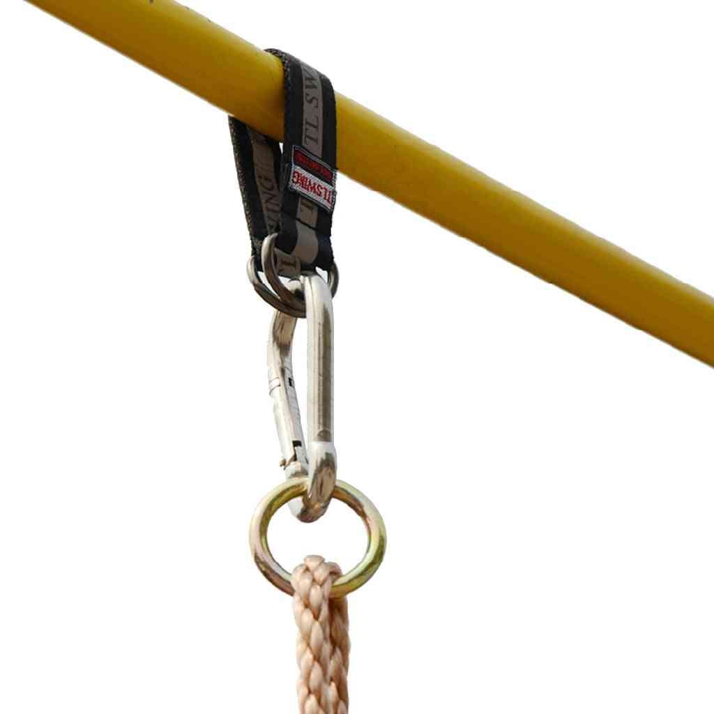 Durable Strong Strap Hanging Swing Chair Hammock Swingset Tree Beam