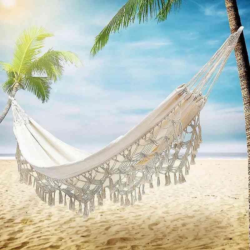 Outdoor/ Indoor Picnic Garden Hammock Hanging Net Chair Swings