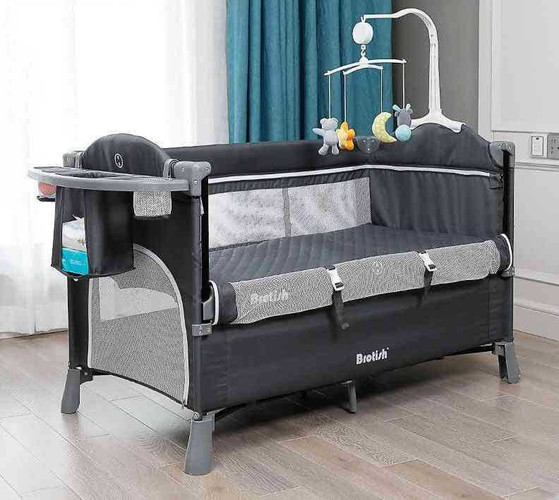 Bassinet & Bedside Sleepers Lightweight With Storage Basket Beside Crib For Newborn Baby