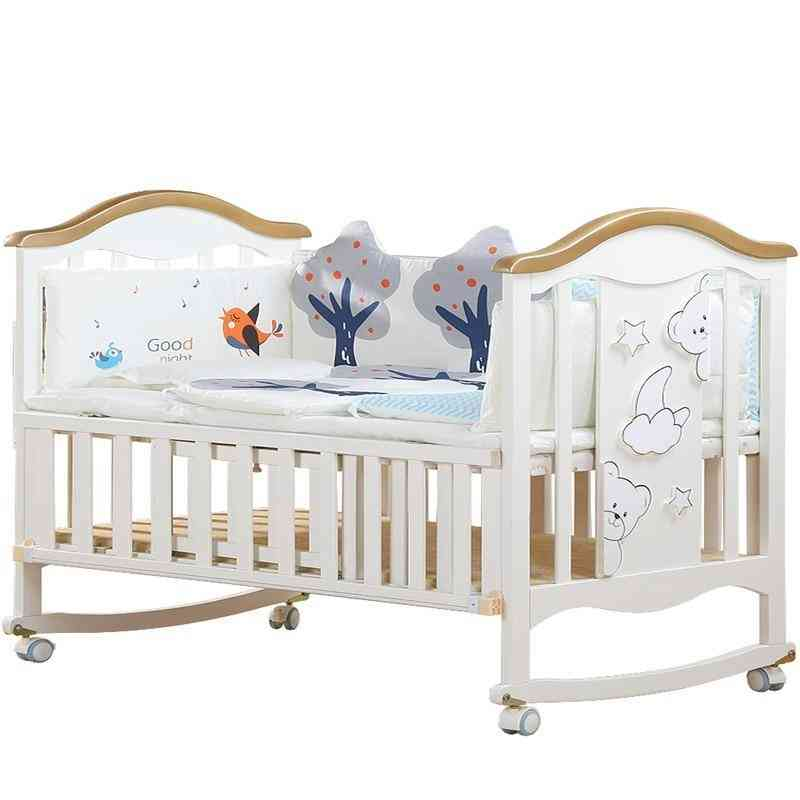 Solid Wood European Multi Functional Baby Bed