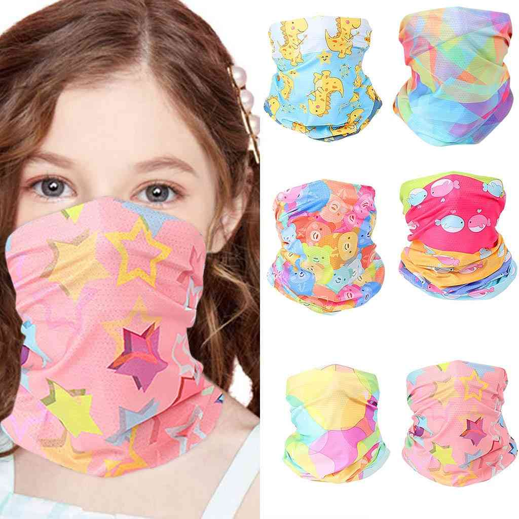 Kids Print Outdoor Bandana Face Mask, Sunscreen Neck Cover