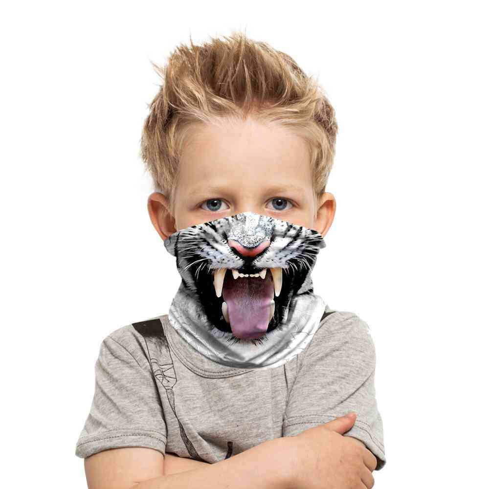 3d- Digital Printed, Animal Magic Headband, Outdoor Neck Scarf For,