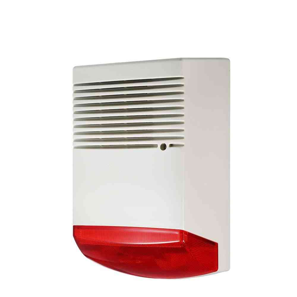 Utdoor Waterproof Wired Strobe Siren With Red Flashlight