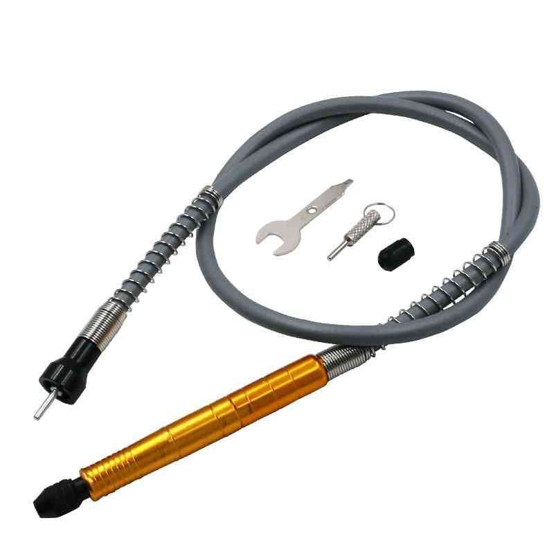 Aluminum Flexible Flex Shaft With Keyless Chuck Connector, Electric Grinder Power Rotary Tool