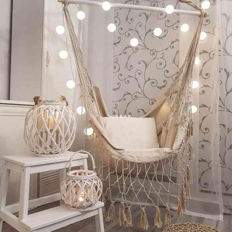 Garden Deluxe Hanging Hammock Swing Chair For Outdoor / Indoor