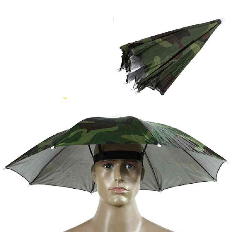 Head-mounted Umbrella, Sun-shade Lightweight, Outdoor Foldable Cap