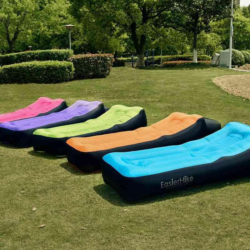 Portable Inflatable- Lounger Air Sofa Bed, Lazy Cushion Chair