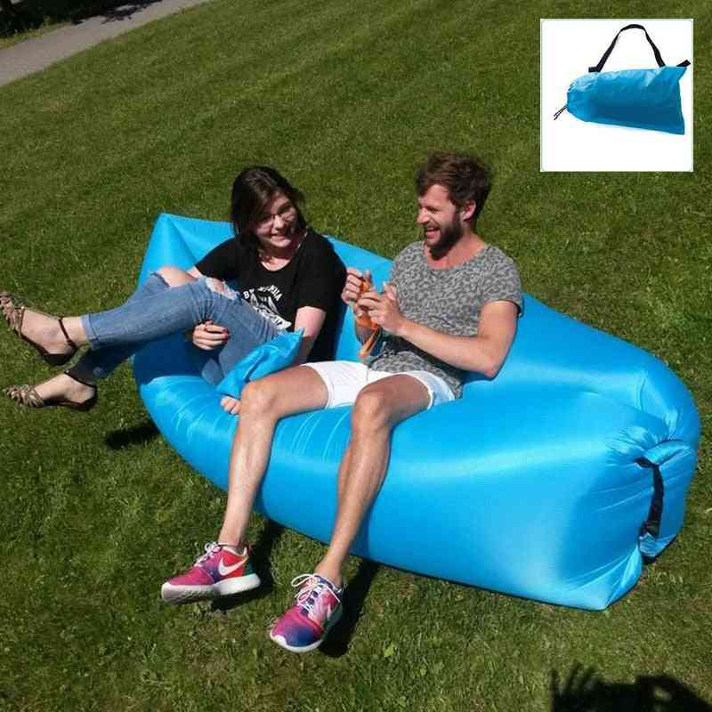 Portable Folding, Sleeping Air Sofa, Lounger Bed For Outdoor Camping