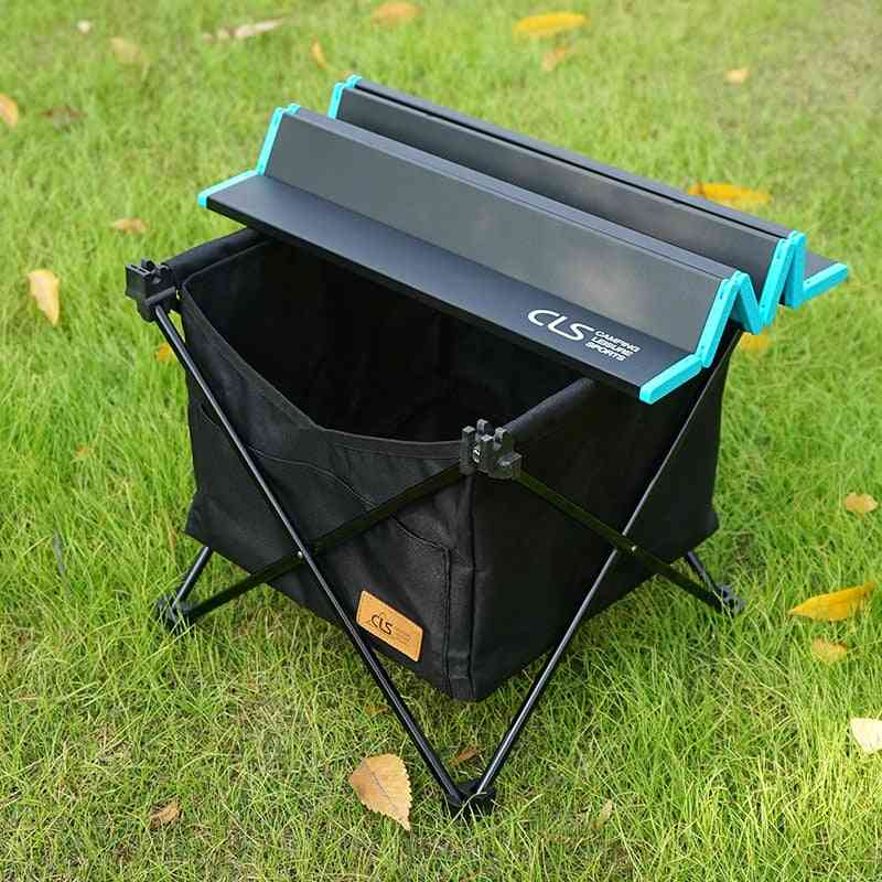 Foldable Outdoor Picnic Table-camping Desk With Storage Bag