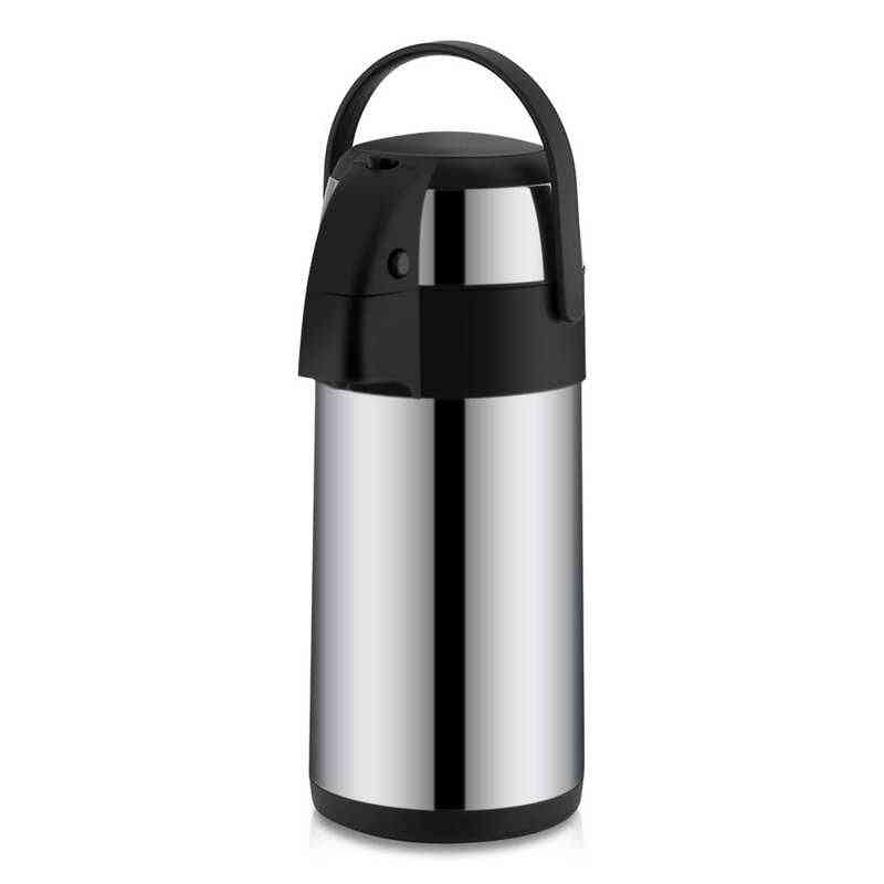 Stainless Steel Airpot With Double Wall, Vacuum Insulation Child Lock Coffee Dispenser