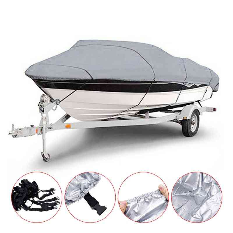 Reinforced Waterproof Boat Cover With Adjustable Quick Release Buckle